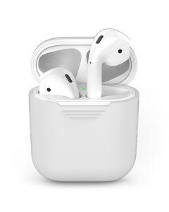 Чехол-накладка (силиконовый) Apple AirPods AhaStyle White (X001BB1007)