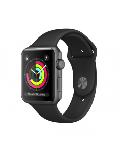 Apple Watch Series 3 GPS 38mm Space Gray Aluminum with Black Sport Band (MTF02)